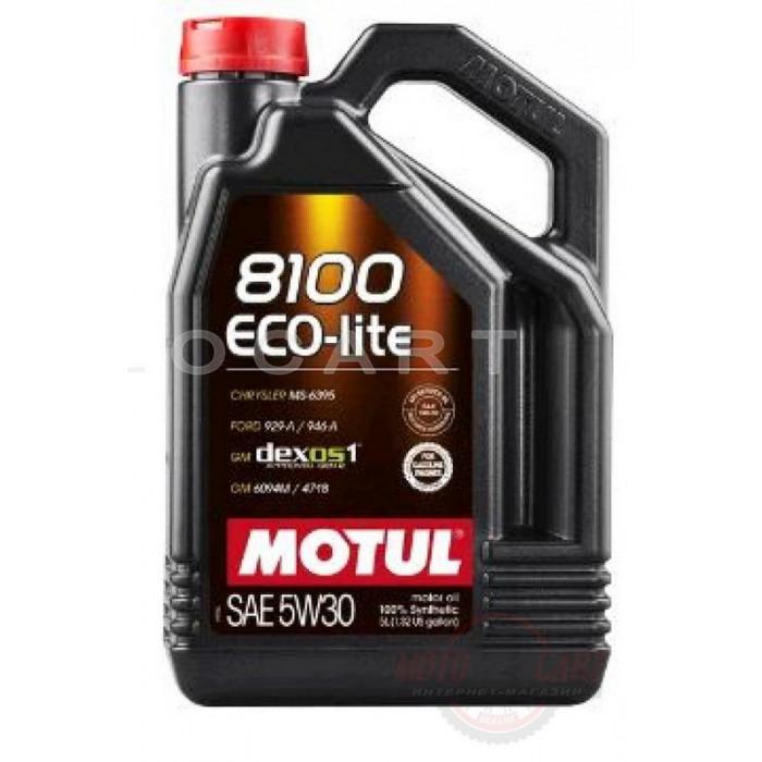 Масло автомобильное, 5л   (синтетика, 5W-30, 8100 ECO-LITE)   MOTUL   (#108214), шт