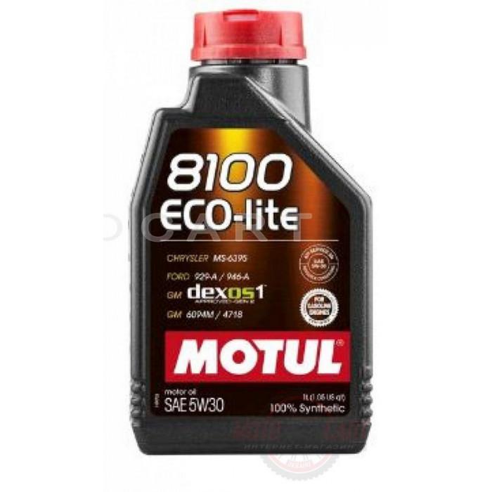 Масло автомобильное, 1л   (синтетика, 5W-30, 8100 ECO-LITE)   MOTUL   (#108212), шт