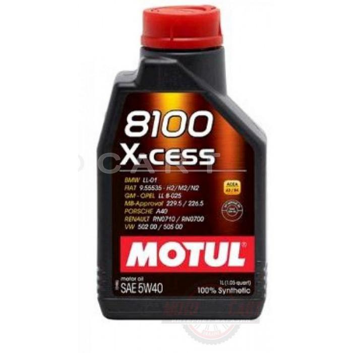 Масло автомобильное, 1л   (синтетика, 5W-40, 8100 X-CESS)   MOTUL   (#102784), шт