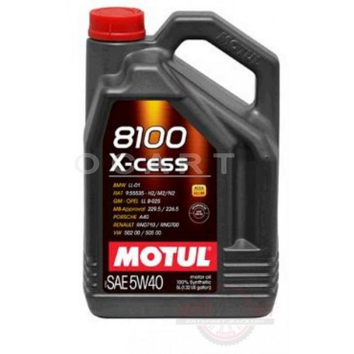 Масло автомобильное, 5л   (синтетика, 5W-40, 8100 X-CESS)   MOTUL   (#102870), шт