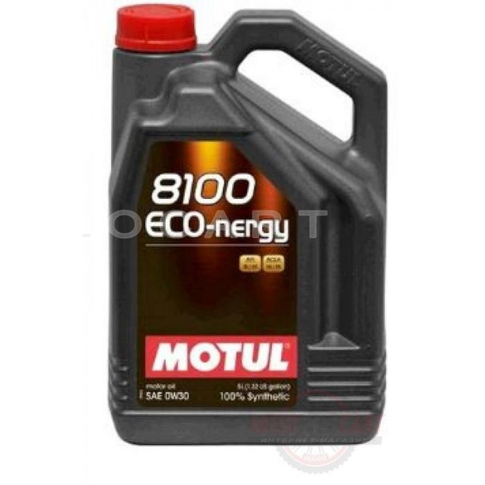 Масло автомобильное, 5л   (синтетика, 0W-30, 8100 ECO-NERG)   MOTUL   (#102794), шт