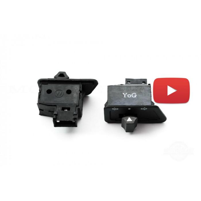 Кнопка руля (повороты)   4T GY6 50-150   (узкая)   MANLE, шт