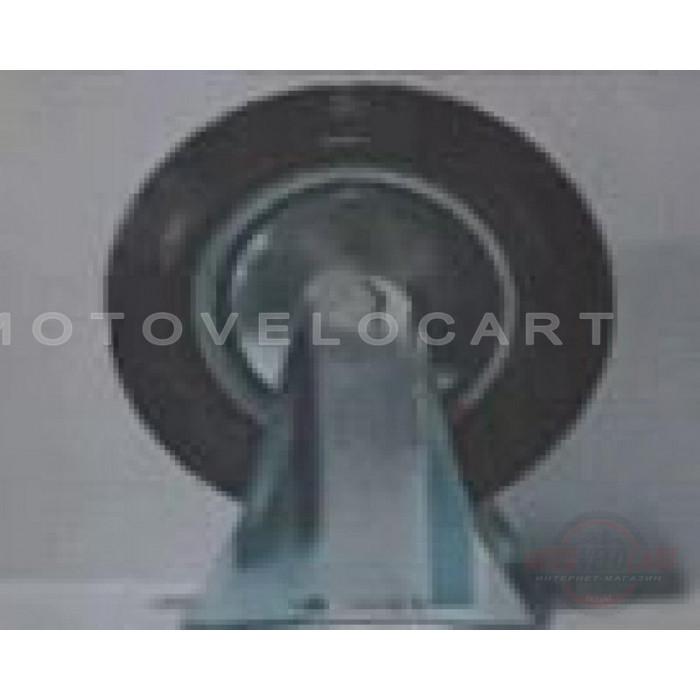 Колесо для тачек и платформ (литая резина) (в сборе с креплением, прямое, без поворота)   (200/50-100mm)   MRHD, шт