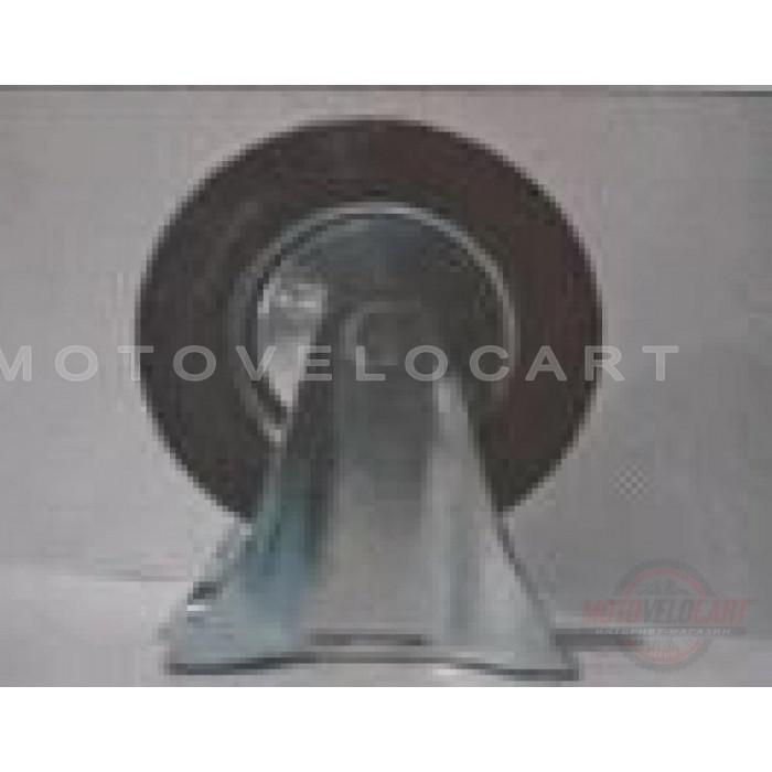 Колесо для тачек и платформ (литая резина) (в сборе с креплением, прямое)   (160/40-80mm)   MRHD, шт