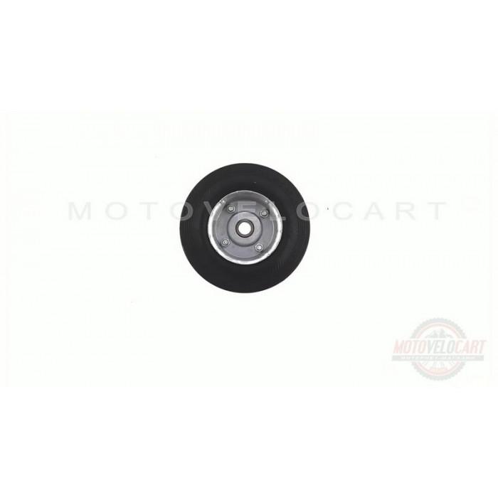 Колесо для тачек и платформ (литая резина)   (125/37,5- 50mm, под ось 12mm, 3 болта)   MRHD, шт