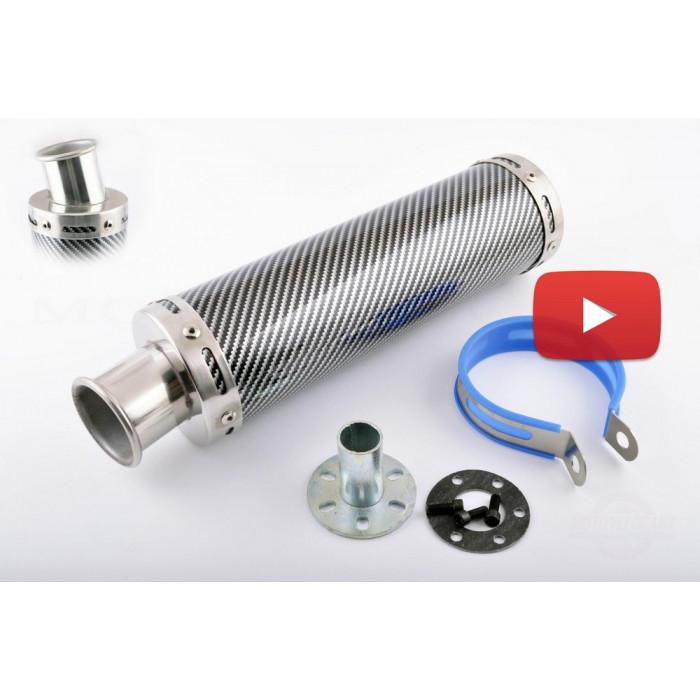 Глушитель (тюнинг)   300*90mm, креп. ?48mm   (нержавейка, карбон mod:2, прямоток, тип:1), шт