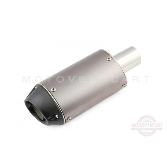 """Глушитель (тюнинг) 245*85mm (нержавейка, овал, черный, прямоток) """"118"""""""