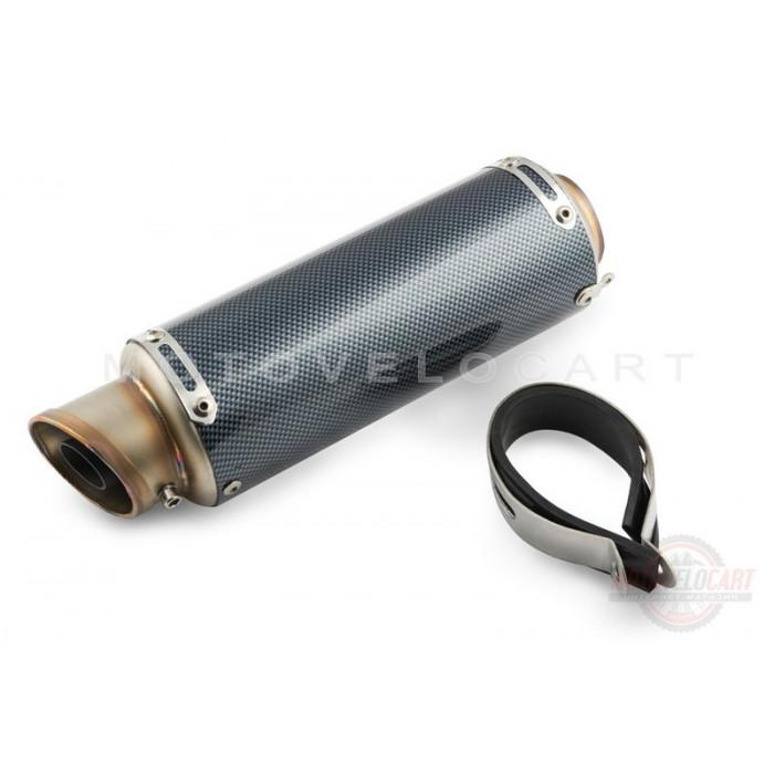 "Глушитель (тюнинг) 290*80mm (нержавейка, карбон серый, прямоток) ""118"""