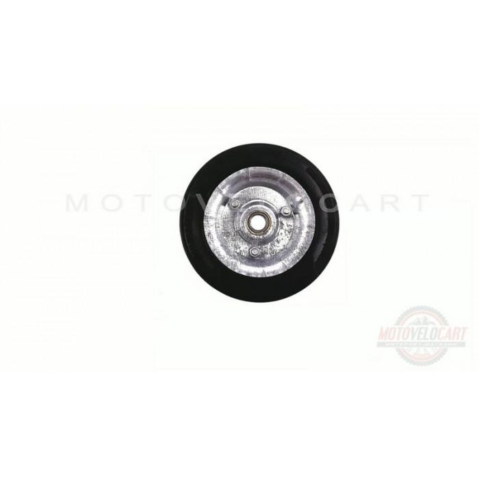 Колесо для тачек и платформ (литая резина)   (160/40- 80mm, под ось 15mm, 3 болта)   MRHD, шт