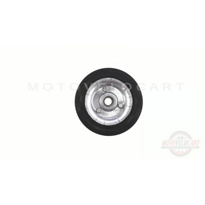Колесо для тачек и платформ (литая резина)   (160/40- 80mm, под ось 17mm, 3 болта)   MRHD, шт