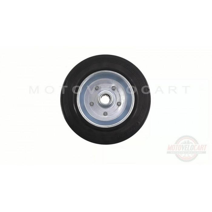 Колесо для тачек и платформ (литая резина)   (200/50- 100mm, игольчатый подшипник)   MRHD, шт