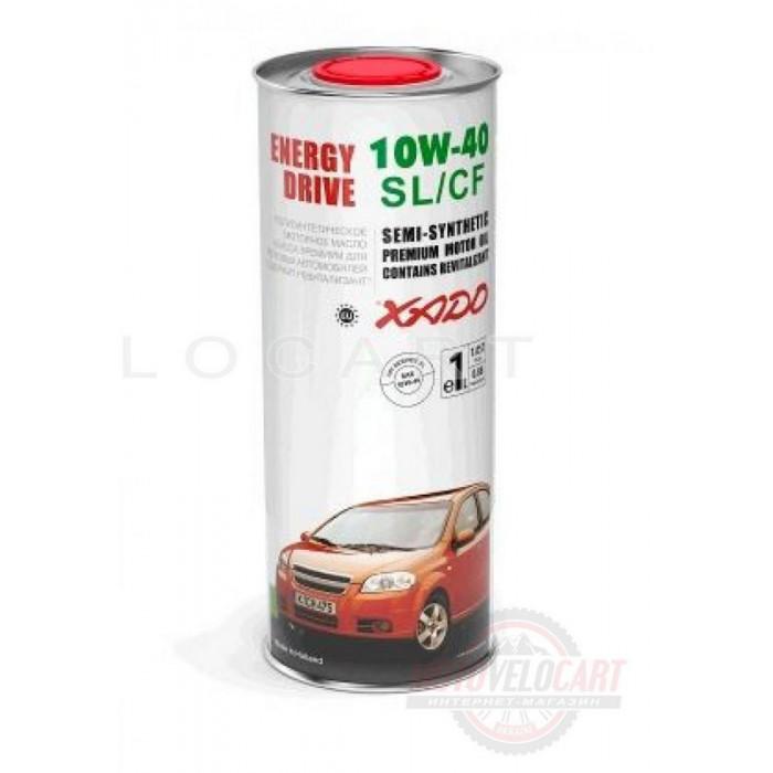 Масло автомобильное 1л   (полусинтетика, 10W-40SL/SF, Atomic Oil, Energy Drive)   (24144)   ХАДО, шт
