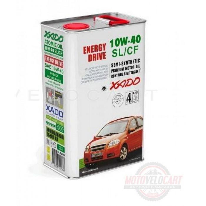 Масло автомобильное 4л   (полусинтетика, 10W-40SL/SF, Atomic Oil, Energy Drive)   (20244)   ХАДО, шт