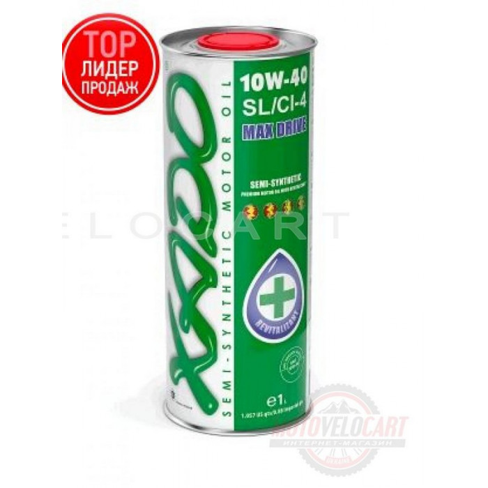 Масло автомобильное 1л   (полусинтетика, 10W-40SL/SI-4, Atomic Oil, MAX Drive)   (24109)   ХАДО, шт