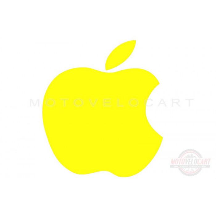 "Наклейка логотип ""APPLE"" (14х12, желтая) (#0467)"