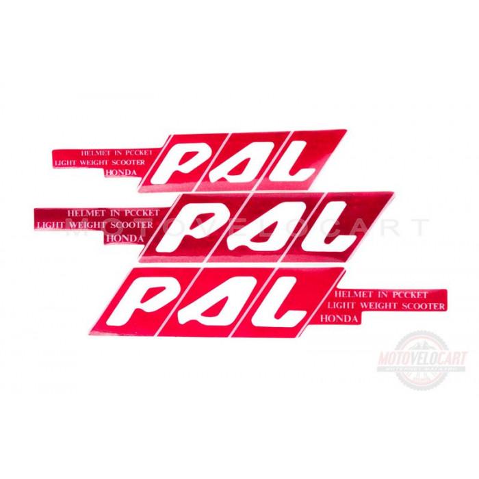 Наклейки (набор)   PAL   (45х23см, красные)   (#0101), шт