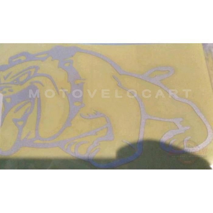 Наклейка   декор   DOG   (13x10cм, серебро, левая)   (#HQ007WL), шт