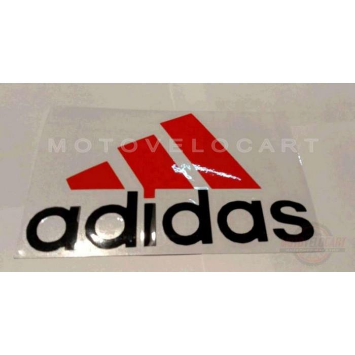 Наклейка   логотип   ADIDAS   (14x9см, красно-черная)   (#0009), шт