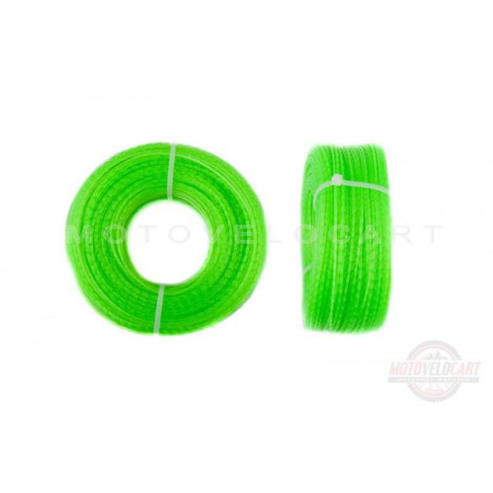 "Леска мотокосы Ø1,6mm, 100 метров (косичка, зеленая) ""BEST"""