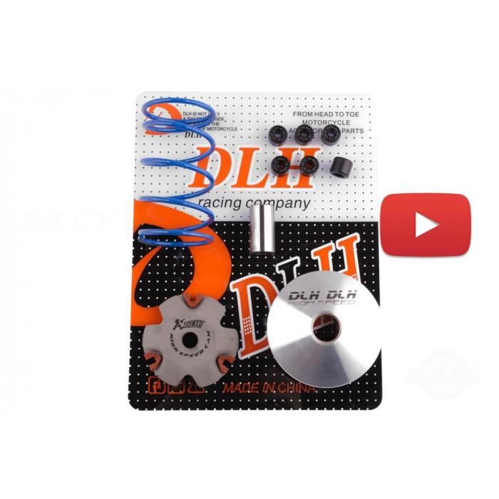 Вариатор передний (тюнинг)   Honda DIO AF18   (+палец, ролики 6шт, пружина торкдрайвера)   DLH, шт
