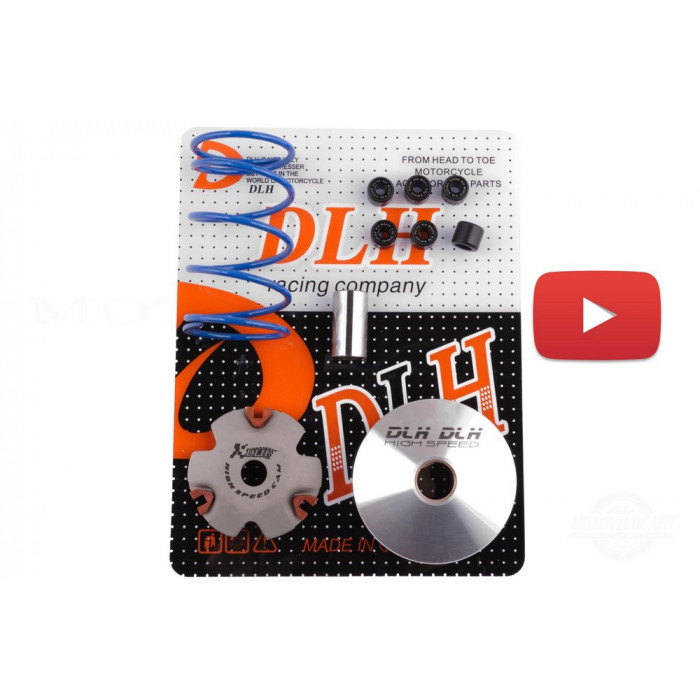 Вариатор передний (тюнинг)   4T GY6 50   (+палец, ролики 6шт, пружина торкдрайвера)   DLH, шт