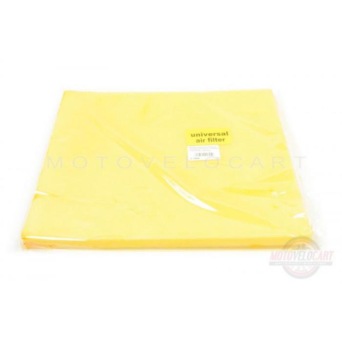 Элемент воздушного фильтра   заготовка 250х300mm   (поролон с пропиткой)   (желтый)
