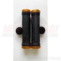 Грипсы резиновые вело с замками, 130mm Gold Locks Grips
