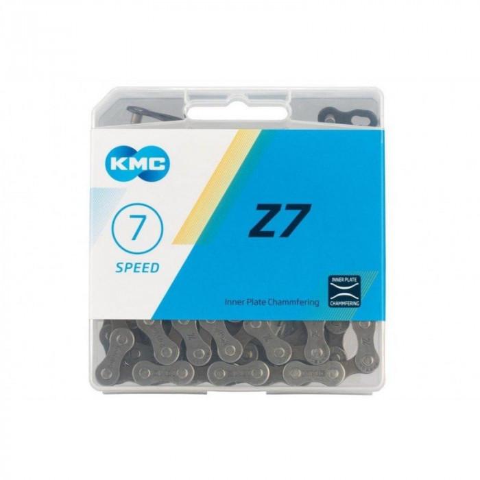 "Цепь для велосипеда KMC 7"" speed, хром, арт. Z-7""CP"