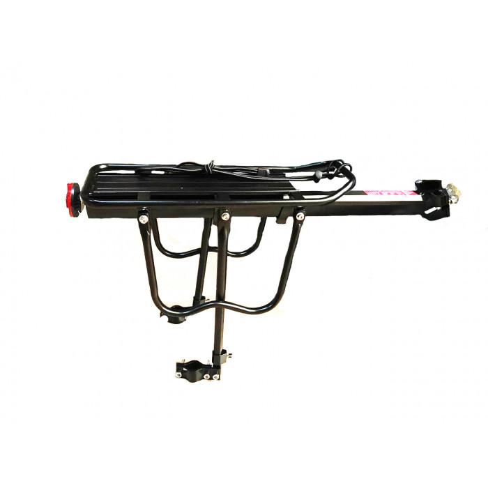 Багажник алюминиевый под дисковый тормоз (крепление на подседельную трубку)