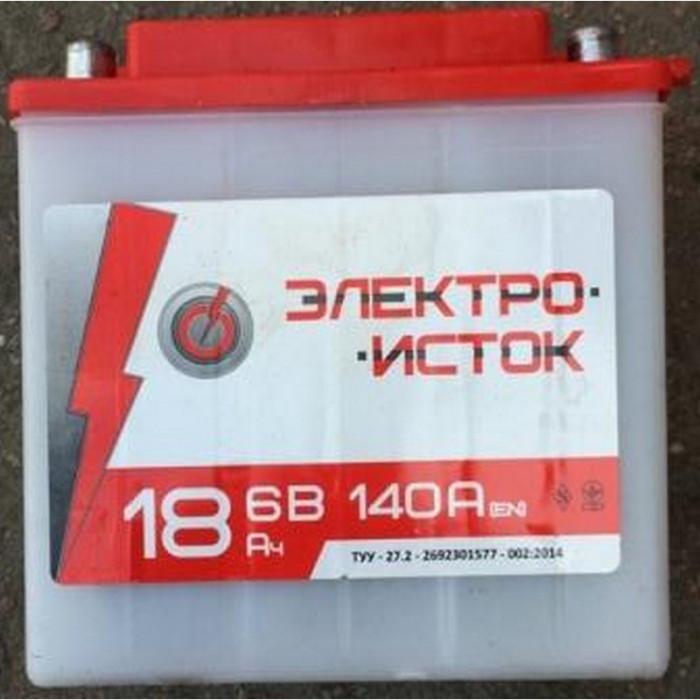 АКБ 6V 18А МОТО МТ ИЖ 10шт в ящ Электро-исток 140x75x140